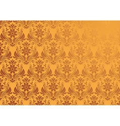 Vintage Floral Background In Gold Seamless vector image