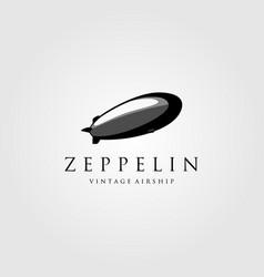 vintage zeppelin airship logo design vector image