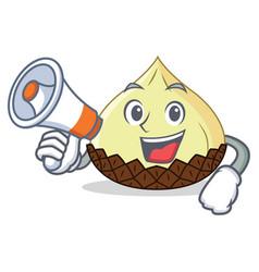 With megaphone snake fruit character cartoon vector