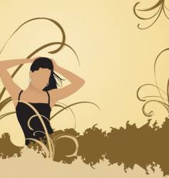 woman in nature vector image