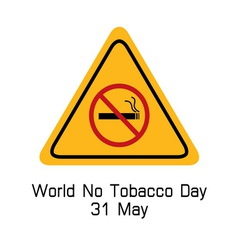 world no tobacco day smoking warning vector image