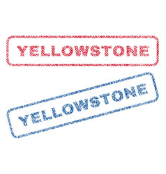 Yellowstone textile stamps vector