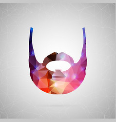 abstract creative concept icon of beard vector image