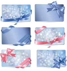colorful Gift cards vector image