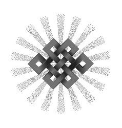 Silver endless knot vector