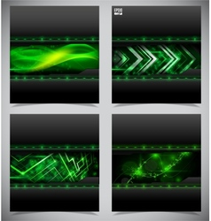 Smooth colorful abstract techno backgrounds vector image vector image