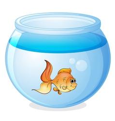 a fish and a bowl vector image vector image