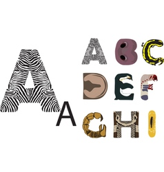 abc of wild animals vector image