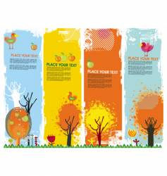 autumn vertical banners vector image vector image