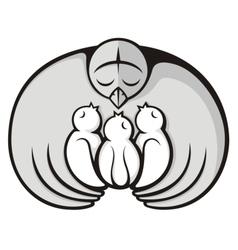 bird mother vector image vector image