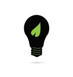 bulb with green leaf vector image vector image