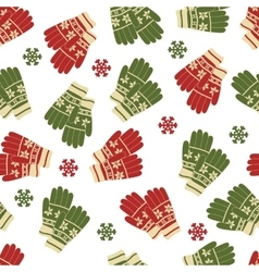 Christmas and New Year seamless pattern of winter vector image vector image
