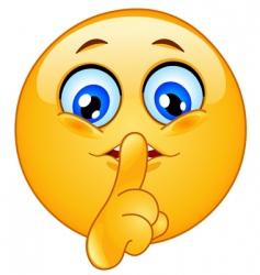 Hush emoticon vector