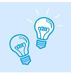Lamp Bulb Idea Icon Simple Blue vector image vector image