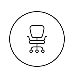 Office chair line icon vector