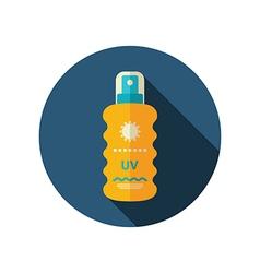 Sun Cream in Spray flat icon Summer Vacation vector image
