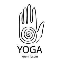 yoga in zentangle style Hand as emblem vector image vector image