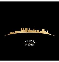York England city skyline silhouette vector image vector image