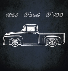 1956 ford f100 vector