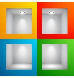 3D shelves vector image vector image