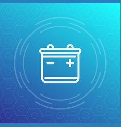 Battery icon pictogram in linear style vector