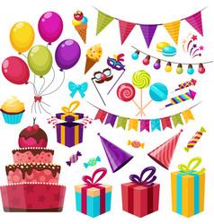 Birthday Party Icon Set vector image