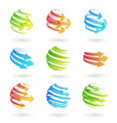 color arrows vector image vector image