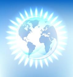 energy gas earth glowing vector image