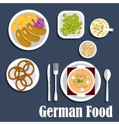 German cuisine soup salads and snacks vector image
