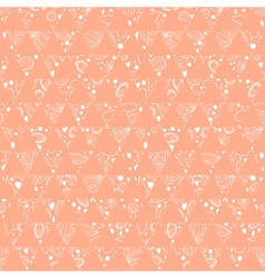 Hand-drawn seamless floral pattern retro colors vector image vector image