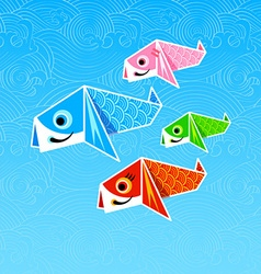 Koinobori origami vector image vector image