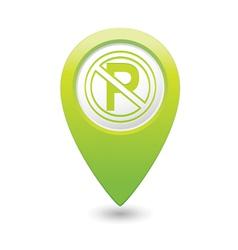 no parking symbol map pointer green vector image