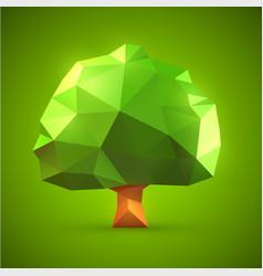 polygonal origami tree vector image