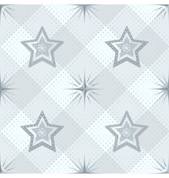 Seamless pattern stars and checkered vector image vector image