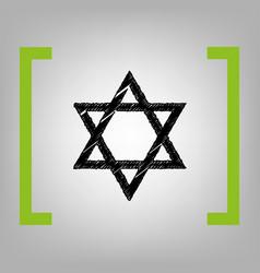 Shield magen david star symbol of israel vector
