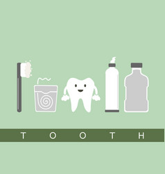 tooth best friend vector image