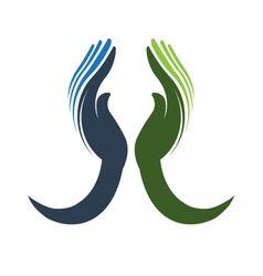 Devoted Hands Logo vector image vector image