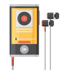 music player flat style vector image vector image