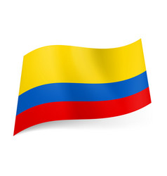 national flag of colombia wide red narrow blue vector image vector image