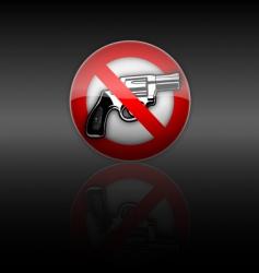 no gun vector image vector image