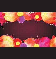 watercolor blots in warm colors vector image