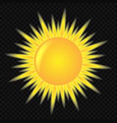 3d cute sun icon vector image