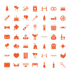 49 celebration icons vector image