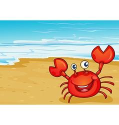 A crab at the seashore vector