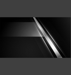 Abstract black wallpaper with silver lines vector