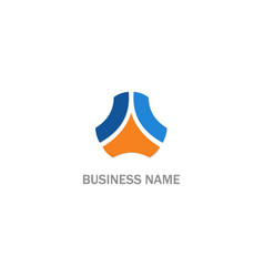 abstract colored shape business logo vector image