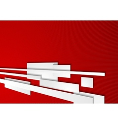 Abstract corporate red motion tech background vector