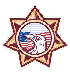 american sheriff badge vector image