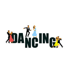 banner for the dance studio vector image