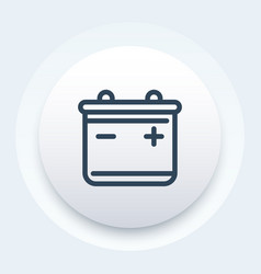 battery line icon pictogram vector image
